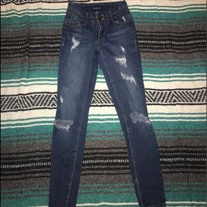 Blue spice size 24 ripped jeans